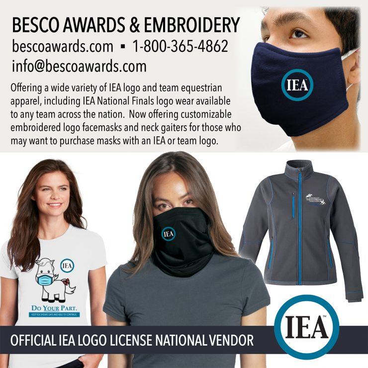 Besco Awards Mask and Gaiter_Covid Pony_SM Button
