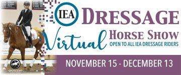 Dressage Virtual Show Horizontal Banner Ad